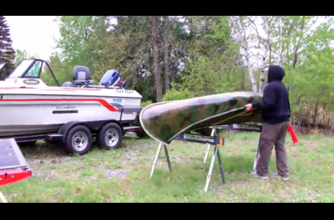 Fishing From a Golden Hawk Canoe For Crappies