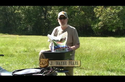 Semi - Permanent Food Plots Using an ATV and Lime to Prep the Soil 3 of 5