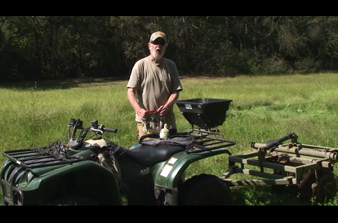 Semi-permanent Food Plots Using an ATV to Sow the Seeds