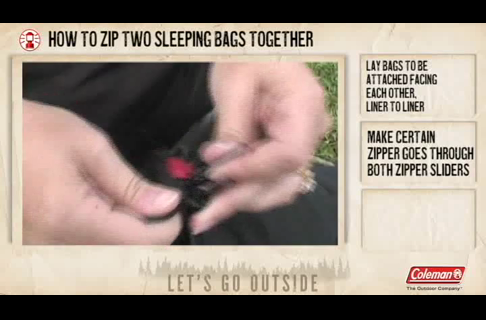 How to Zip Two Sleeping Bags Together