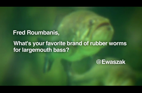 Fred Roumbanis' Favorite Brand of Rubber Worms for Largemouth Bass