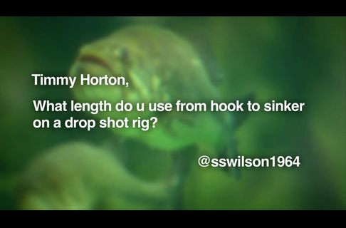 Timmy Horton on Sinkers on Drop Shot Rigs