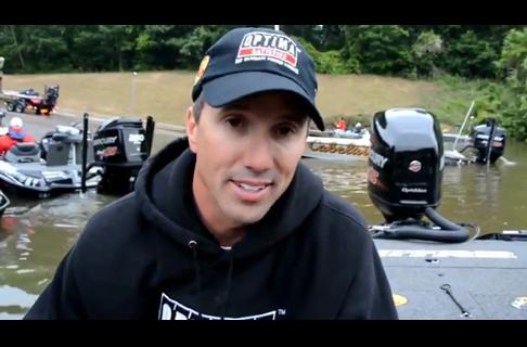 Edwin Evers; Day 2 AM Bassmaster Elite Alabama River 2013