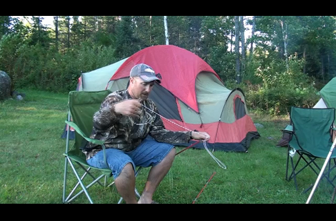 Repairing Tent Pole Shock Cords in The Field