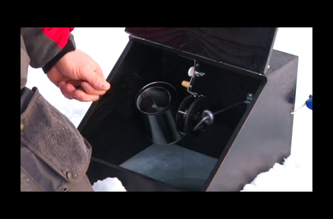 Heated Box Tip Ups With Mr. Bluegill