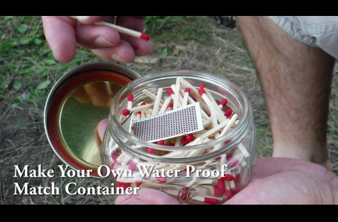 Make Your Own Waterproof Match Container