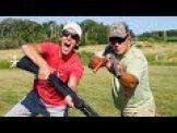 Gould Brothers Trick Shots: Pump Shotgun  | Shoot N Eject